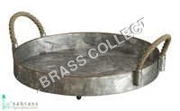 Galvanized Rope Serving Tray