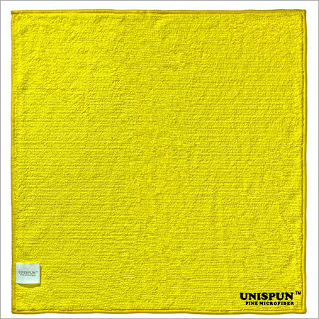 Microfiber Car Cleaning Yellow Cloth