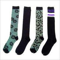 Jacquard Knee Socks