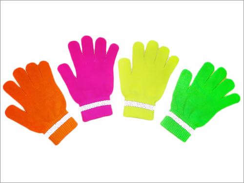 Acrylic Neon Gloves With Reflex Stripe