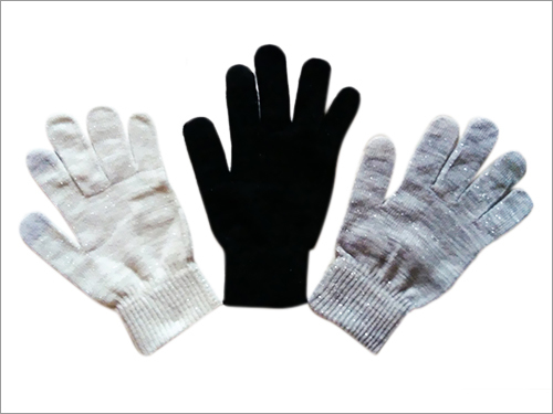 Touch Gloves With Silver Mixed