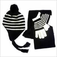 Knitted Hat, Glove And Scarf Set