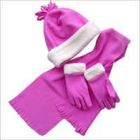 Poly Fleece Hat, Glove And Scarf Set