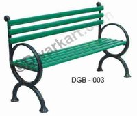 Elegant Design Cast Iron Garden Bench