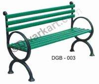 Elegant Design Cast Iron Garden Bench
