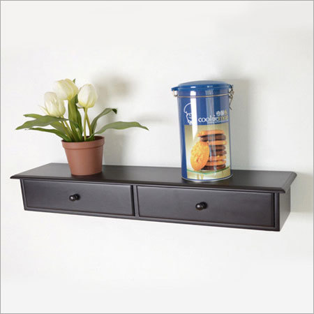 Two Drawer Wall Mount Shelf