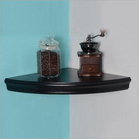 Furniture Hardware Wooden Corner Floating Wall Shelf