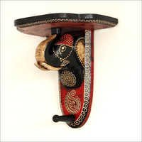 Handpainted Elephant Shape Bracket Wall Shelf