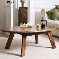 Wooden Oval Shape Center Table