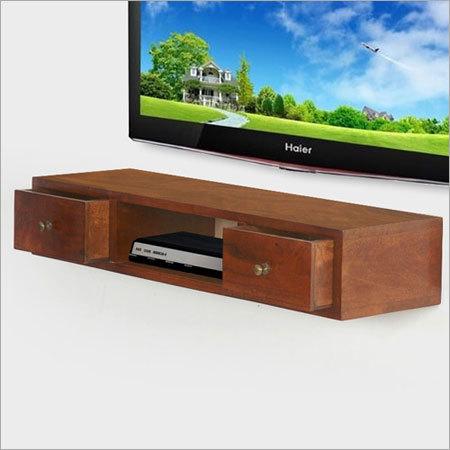 Wooden TV Console Wall Shelf