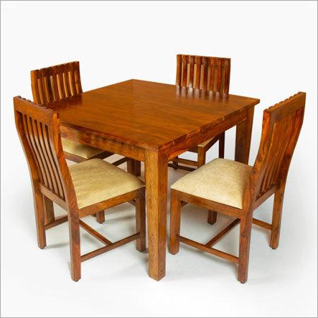Sheesham Wood 4 Seater Designer Dining Set
