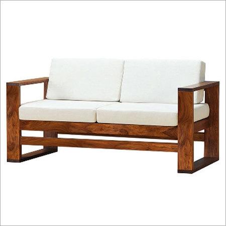 Sheesham Wood Two Seater Sofa