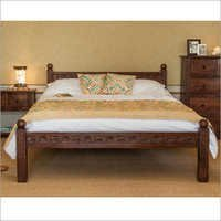 Hand Carved Solid Wood Queen Size Bed