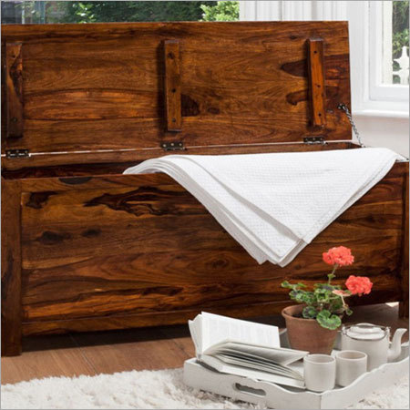 Handcrafted Sheesham Wood Blanket Box
