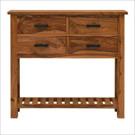 Sheesham Wood Storage Console Table
