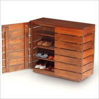 Wooden Shoe Storage Cabinet