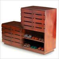 Wooden Shoe Storage Designer Cabinet