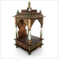 Handmade Painted Wooden Mandir