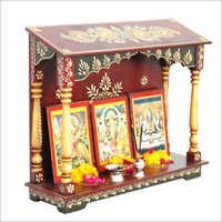 Hand Painted Wooden Mandir