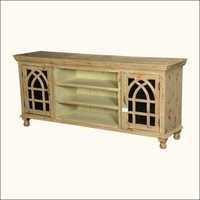 Gothic Arches Tv Console Media Cabinet