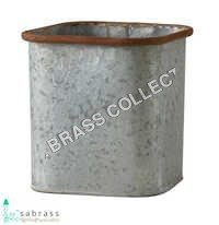 Galvanized Square Pot