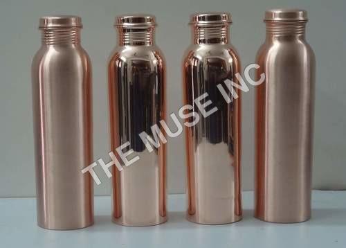 Solid Copper Water Bottle