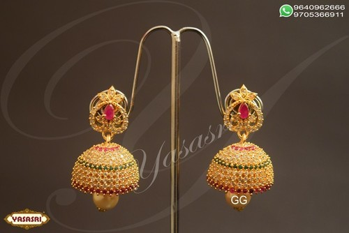 Cz Fancy Traditional Jumka