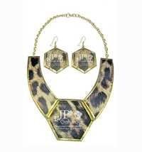 Brass Leather Necklace Set