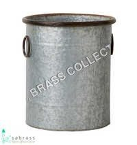 Galvanized Cylinder Pot
