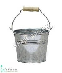 Galvanized Garden Flower Bucket