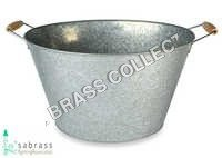 Galvanized Garden Oval Tub