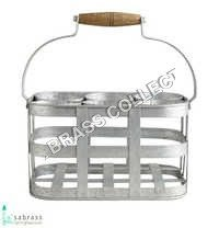 Galvanized Garden 4 Bottle Caddy