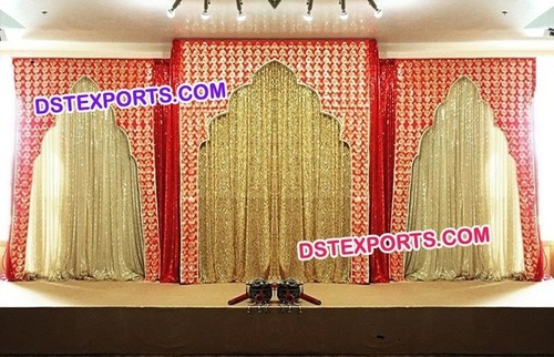 Wedding Red Cutout Backdrop