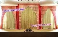 Wedding Red Cutout Backdrop