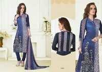Cotton work suits with chiffon dupatta mcm tehzib