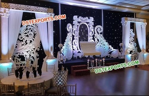 Elegant Reception Wedding Stage Decor