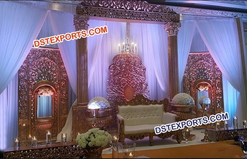Rajwada Theme Wedding Stage Decor