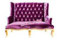 Royal Look Lavender Wedding Tufted Sofa