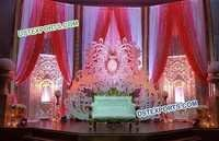 Jhrokha Panel Wedding Stage Backdrop