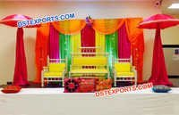Colorful Wedding Sangeet Stage Furniture