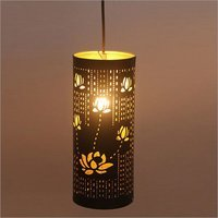 ROSE CUTTING CYLINDRICAL PENDANT LAMP