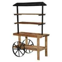 Wheel Barrow Industrial Open Bookcase Wall Unit