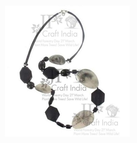 Resin B/W Necklace