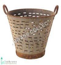 Vintage Garden Olive Basket