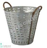 Galvanized Garden Olive Basket