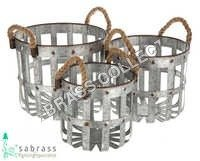 Galvanized Garden Bucket S/O 3 Pcs