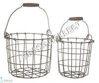 Rustic Garden Basket S/O 2 Pcs