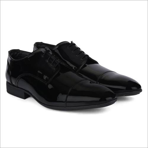 Congo Black Leather Shoes