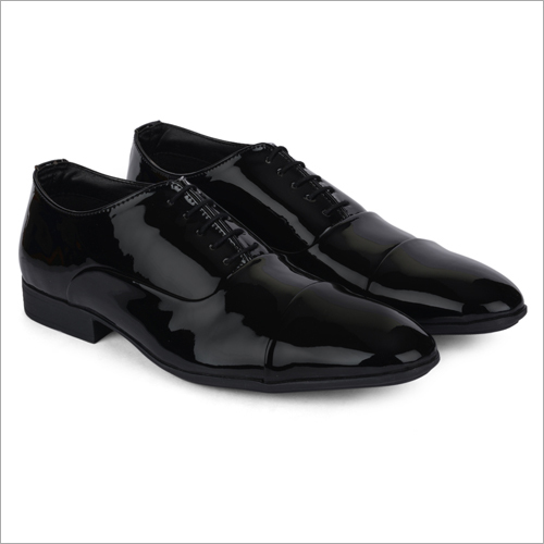 Gabon Shiny Black Leather Shoes
