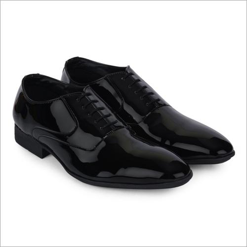 Togo Shiny Black Leather Shoes